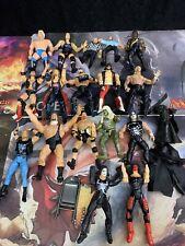 Lot Of 17 Mostly WCW NWO Figures. Some WWE. Sting, Hulk, Mattel Jakks Pacific