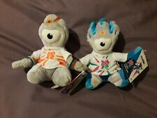 """2 x London 2012 Olympic Wenlock And Mandeville 30cm 6"""" Mascot Soft Toys (lot 2)"""