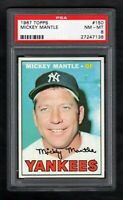 1967 TOPPS #150 MICKEY MANTLE YANKEES HOF PSA 8 NM/MT CENTERED!