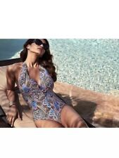 JANTZEN Paisley Print 1 One Piece Swimsuit Tummy Control, Size 14 New w Tag $108
