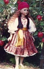 "Clothes Pattern for 21 - 22"" Doll Blouse,Skirt,vest,Scarf hippie gyspy Renaissan"