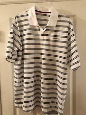 Taylormade Black and white striped Polo Shirt Ashworth XXL EUC
