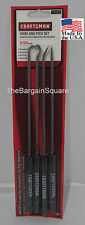 """Craftsman 4pc Hook and Pick Set 9-3/4"""" Cushion Grip Straight Right Angle Complex"""