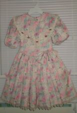 Nicole Dorissa International Floral Victorian girls Dress Size 8 Vintage