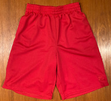 Boys STARTER Gym Shorts Size 8 Medium Red Running Outdoor Indoor Nice Condition