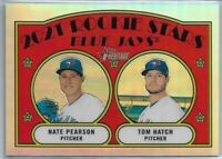 2021 Topps Heritage Nate Pearson & Tom Hatch Chrome Refractor Rookie #'d 314/572