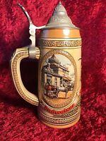 """Anheuser Busch Budweiser """"G"""" Series Lidded Beer Stein"""