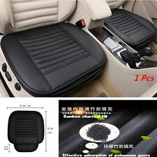 Black Full Surround Bamboo Charcoal Leather Car Seat Protect Mat Cover Cushion