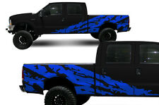Vinyl Decal Shred Wrap Kit for Ford F-250/F-350 Truck Parts 1999-2006 Azure Blue