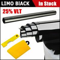 Kit 3m x 50cm per pellicola da tinta per vetri auto Limousine per auto nera 25%