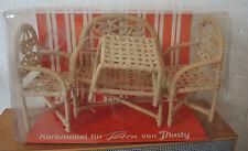 Set Körbmöbel - Möbel für Petra von Plasty - unbespielt in OVP - 70er 70s RAR