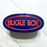 Bugle Boy Watch Tin Empty Vintage 90s Storage Container Oval Blue Red