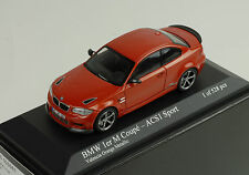 BMW M 1er 1 series Coupe 2011 acs1 sport valence Orange MINICHAMPS 1:43