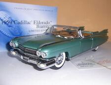 1959 Cadillac Eldorado Biarritz Cabrio _ FRANKLIN MINT 1:24 LIMITED _ NUOVO OVP