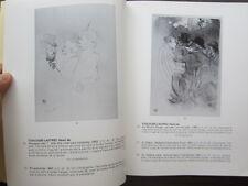 Catalogue de vente : Lithographies de Henri de Toulouse Lautrec