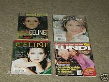 4 Pc Celine Dion Assorted Magazine Photos Exclusives