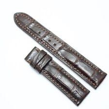 20mm/18mm Dark Brown Genuine Crocodile Alligator Leather Skin Watch Strap Band