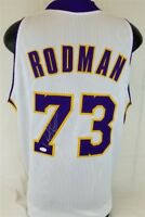 Dennis Rodman Signed Lakers Jersey (JSA) 5×NBA champion (1989, 1990, 1996–1998)