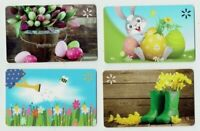 WALMART Gift Cards Easter / Spring / Bunny / Flowers - LOT of 4 - No Value