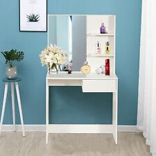 Schminktisch Frisiertisch Kosmetiktisch Frisierkommode Kommode Spiegel Weiß