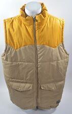 2012 MENS NIKE SB DOWN VEST $170 XL  yellow dark khaki  water resistant USED