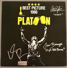 Platoon Signed Laserdisc Charlie Sheen Tom Berenger Willem Dafoe EXACT PROOF!