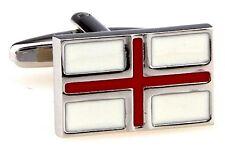 British Flag Cufflinks Union Jack England Wedding Fancy Gift Box Free Ship USA