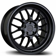Avid1 AV34 Rims 18x8.5 +35 5x114.3 Matte Black Mesh (Set of 4)