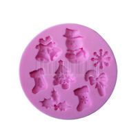 Snowman Bell Silicone Fondant Mould Cake Chocolate Baking Mold Sugarcraft Decor