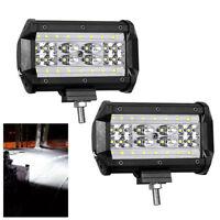 """2x 5"""" 28LED 168W Arbeitsscheinwerfer Scheinwerfer Flutlicht Lampe Offroad 6000K"""