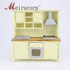 Fine Dollhouse 1/12 Scale Miniature furniture beautiful Kitchen cabinet cooking