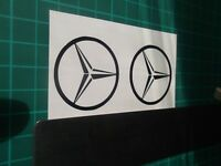 Mercedes Benz  logo / badge car vinyl decal sticker.....Small .....x4