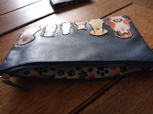 Mala Leather Dog Design Card Holder And Small Item Case