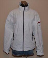 NIMBUS White Full Zip Waterproof Windproof Jacket Windbreaker Womens Medium