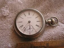 Antique American Waltham 17 Jewels Pocket Watch Silveroid Case Lever Set