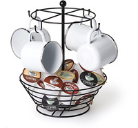 Iron Coffee Mug & Tea Cup Rack Holder Tree Stand Kitchen Storage