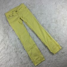 "Diesel Womens Size 29 Yellow Straight Leg Jeans Stretch 35"" Inseam. FF"