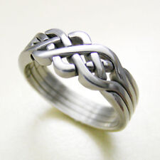 (PIONEER) Unique Puzzle Rings - Sterling Silver - Any Size