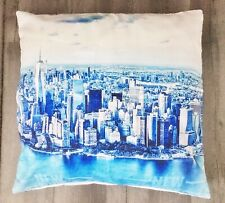 "Multicoloured New York Design Cushion Cover 17"" X 17"" Home Sofa Decor"