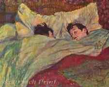 In Bed (1) by Henri de Toulouse Lautrec - Man Woman Girl Boy  8x10 Print 1476