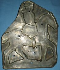 ANTIQUE RARE COLLECTIBLE TIN SOLDERED COOKIE CUTTER MAN ON HORSEBACK