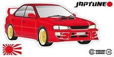 Subaru WRX Impreza  V1 - Red with Gold Simmon Rims - JDM - JapTune Brand