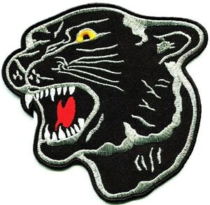 "Black Panther 8"" Party Back Patch Sewing Iron On Revolutionary Tiger Shirt Cloth"
