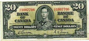Canada - 1937 Bank of Canada $20 Dollars P62b VF+/aXF Condition