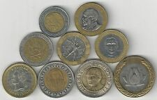 9 BI-METAL COINS from 9 DIFFERENT COUNTRIES (ARGENTINA to VENEZUELA)