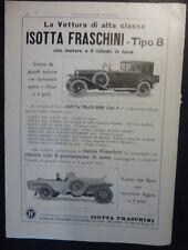 VTG ED. - AUTO  ISOTTA FRASCHINI TIPO 8 - 1923