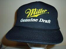 MILLER BEER NEW MESH SNAPBACK Baseball Cap Trucker Hat Retro Rare Unique Lid Q