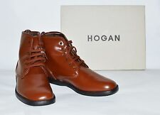 Men's Light Brown Leather Hogan Fashion Shoes Size 8 Medium