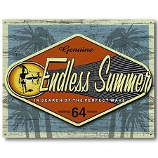 ENDLESS SUMMER GENUINE IN SEARCH OF THE PERFECT WAVE Retro Surfing Metal Sign