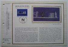 NICOLAS DE STAEL   Feuillet CEF Timbre 1er jour SOIE - 1985